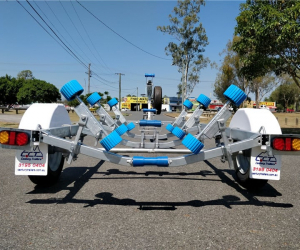 Boat Trailer with Wobble Rollers 750KG ATM