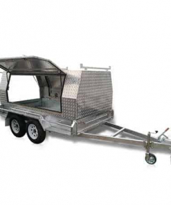 The 8 x 5 Tradesman with the side and rear door open