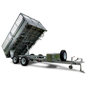 12×7 Hydraulic Tipper Flat Top Trailer ATM 3500KG