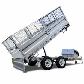 12×7 Hydraulic 3 Way Tipper Flat Top Trailer ATM 3500KG