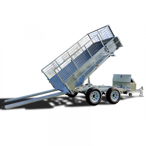 8×5 Hydraulic Tipper Tandem Box Trailer ATM 3500KG