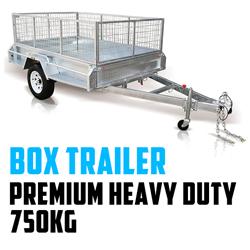 PREMIUM Heavy Duty Box Trailer 750KG